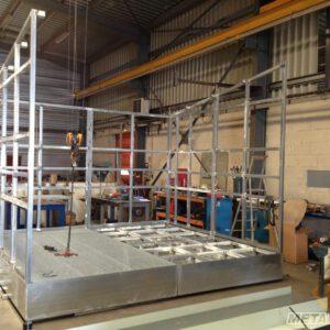 Bac de rétention galvanisé avec toiture - Fabrication spécifique - METALINOX