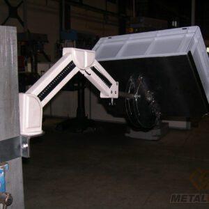 Bras extensible pour repose bacs - Mobilier & Aménagement industriel - METALINOX 2