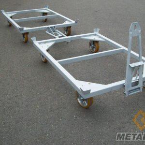 Chariot de transport 4 roues en Mécano-soudés - Mobilier & Aménagement industriel - METALINOX