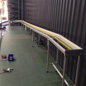 Convoyage + Toboggan industriel - Vue du haut- METALINOX