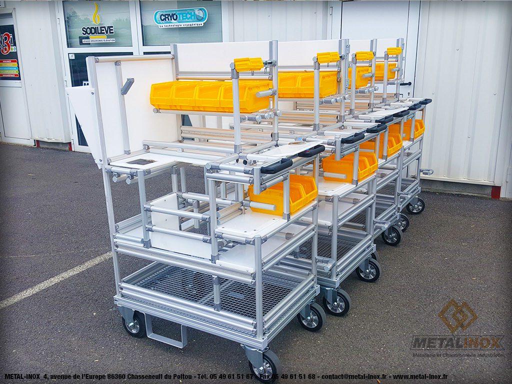 Desserte de contrôle qualité d'une ligne d'assemblage - Lean Concept - 2 - METALINOX