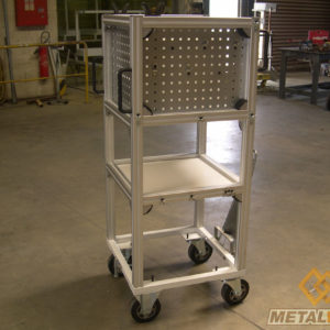 Desserte outil composition en profil alu - Mobilier & Aménagement industriel - METALINOX