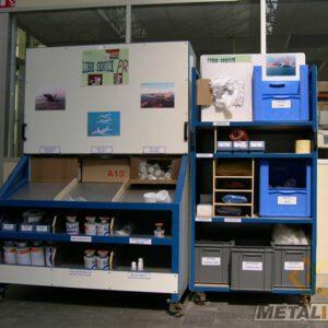 Dessertes mobile avec plan incliné - Mobilier & Aménagement industriel - METALINOX