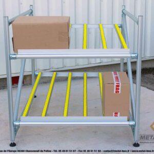 Meuble-de-convoyage-2-niveaux-pour-picking-Statique-LeanConcept-1-METALINOX