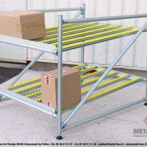 Meuble-de-convoyage-2-niveaux-pour-picking-Statique-LeanConcept-2-METALINOX