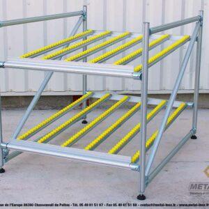 Meuble-de-convoyage-2-niveaux-pour-picking-Statique-LeanConcept-3-METALINOX