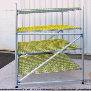 Meuble-de-convoyage-4-niveaux-pour-picking-Statique-LeanConcept-2-METALINOX