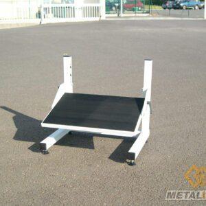 Repose pieds pour poste de travail - Mobilier & Aménagement industriel - METALINOX 1