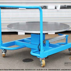 Table élévatrice rotative à manivelle - 1 - METALINOX