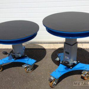 Table élévatrice rotative manuelle - Fabrication spécifique - METALINOX 2