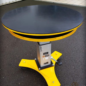 Table élévatrice rotative manuelle - jaune - METALINOX