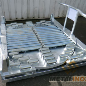 Table-rotative-convoyage-galvanisee---Fabrication-spécifique---METALINOX