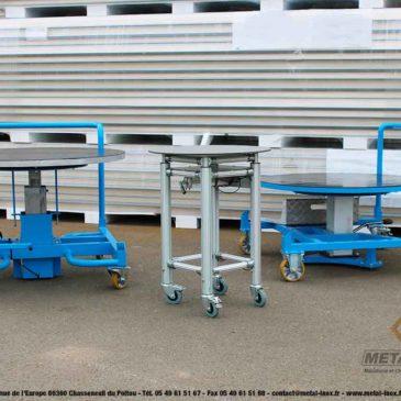 Élevez votre matériel grâce à nos tables rotatives élévatrices