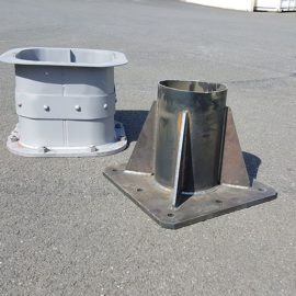 Embases industrielles Metalinox