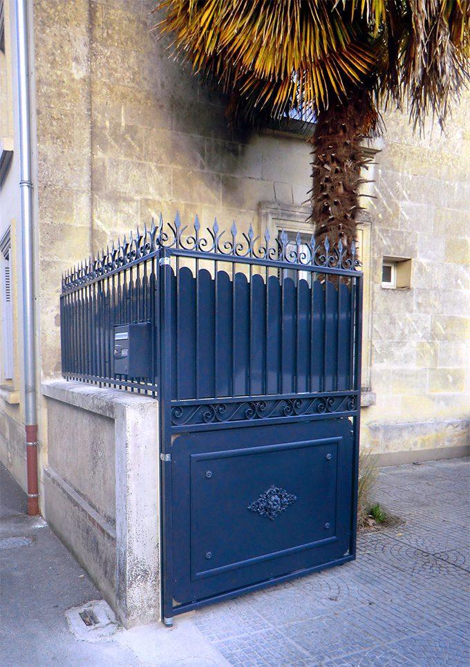 portail d'entré produit par galvanisation