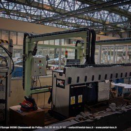 Projet DASSAULT - portique baie de controle 15 prises 2 bras de levage avec 2 verins électrique synchronisés