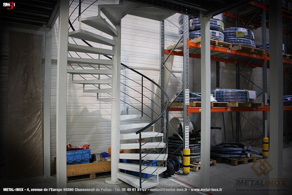 Escalier hélicoïdal METALINOX